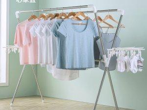 心家宜晾衣架图片 多功能X型晾衣架产品展示